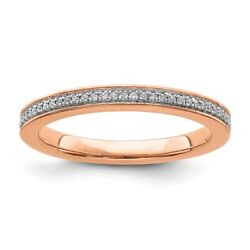 14k Rose Solid Gold Diamond Stackable Ring Stackable Expressions Fashion Rings