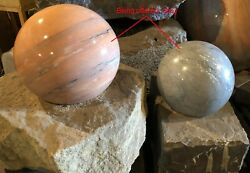 Sphere Fountain Andndash Solid Stone Sphere Rolls On Water Andndash Large Stock