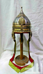 16ga Steel Early Medieval Etched Ottoman Migfer Helmet Based On Islamic History