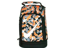 Nike Lunch Box Tote School Bag 2 Compartment Insulated Orange Gray 9A256 NG8 $18.90