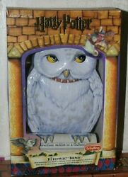Harry Potter Collectible Hedwig Bank--2001--schylling--nib--nrfb--rare