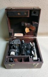 Vintage Air Forces Us Army Corps Wwii Fairchild A-10 Sextant In Wood Case 3378
