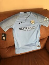 Nike Manchester City 2018 Soccer Jersey Nwt Size Large Youth Unisex