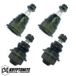 Kryptonite Upper Lower Ball Joint Package Stock Control Arms For 01-10 Chevy/gmc