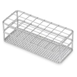 Stainless Steel Testtube Rack, Wire Constructed, 16/18mm, 18 Places Case 64