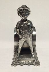 Antique Silverplate Figural Napkin Ring Tom Sawyer Barbour Silver Co. 8