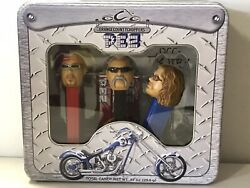Pez Orange County Choppers Tin 2006 ,dispensers W/candy Paul Jr. And Sr. And Mikey