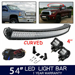 For Dodge Ram 52inch LED Light Bar Upper Roof Front Mounts (THE ALL-NEW 2019)