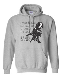 Gildan Hoodie Pullover Sweatshirt May Be Old Got To See The Cool Bands Rock Roll
