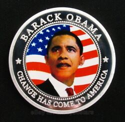 Us President Barack Obama Silver Plated Commemorative Coin Collectible Gift