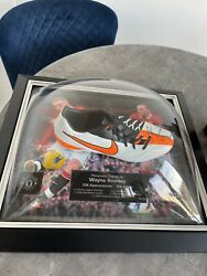Wayne Rooney Signed And Framed Football Boot