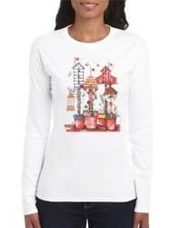 Gildan Crewneck Sweatshirt Bird House Birdhouse Country Birdhouses Flower Pots