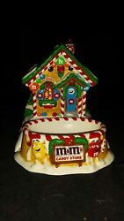 Vintage Dept 56 Mandmand039s Candy Store Lighted Ginger Bread House Candy Dish
