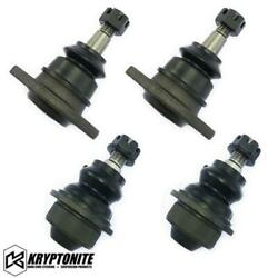 Kryptonite Upper Lower Ball Joint Package For Aftermarket Control Arms 01-10 Gm