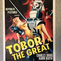 "TOBOR THE GREAT ONE SHEET MOVIE POSTER (Linen Backed 27"" X 41"") - 1954"