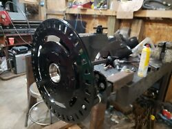Welding Rollout Wheel Without Chuck. Locking With Brake, Multiposition