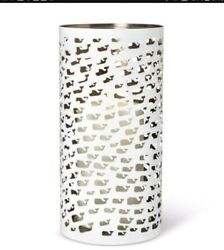 Vineyard Vines Target Stainless Steel White Whale Candle Lantern Largest 12 H