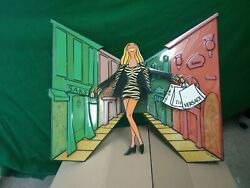 Amazing Debbie brooks Popmotion Signed and Numbered 3250 3D Art Happy Shopper