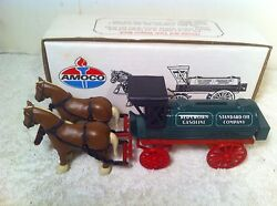 Vintage Ertl Amoco Crown Standard Horse And Wagon Coin Bank Collectable Toy
