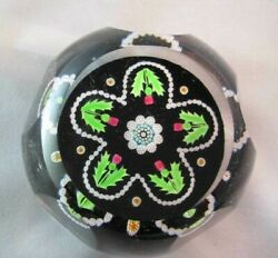 Scottish Faceted Thistle Perthshire Glass Paperweight- Numbered 230- Cane P1994