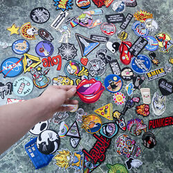 100pcs Embroidered Sew On Iron On Patch Badge Clothes Fabric Applique