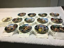 M.j. Hummel Little Companions Collector Plates Set Of 13. Perfect Cond.