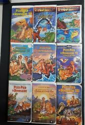 The Land Before Time / Petit Pied Dinosaur Vhs French Version Complete 9 Movie
