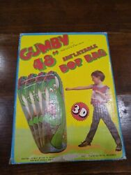 Vintage 1986 Imperial Toy Corporation 48inch/122cm Gumby Inflatable Bop Bag New