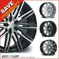 20 Rv120 Alloy Wheels + Tyres - Vw Transporter T5 T6 T28 T32 + Load Rated