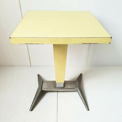 Table De Bistrot Bar 1950 Vintage Formica And Aluminium 50s 50and039s Annees 50