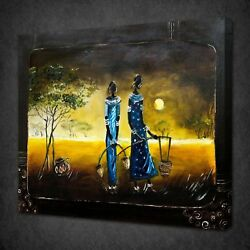 Abstract African Ladies Design Canvas Picture Print Wall Art Free Fast Delivery