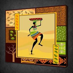 Abstract African Design Canvas Picture Print Wall Art Free Fast Delivery