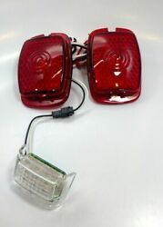 Pair Led Tail Light Inserts For 1937-38 Cars And 1940-53 Chevrolet Trucks