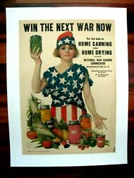 Original Wwi War Poster, Win The Next War Now, Leonebel Jacobs, 1918, Canning