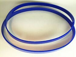 2 Delta Rockwell 28-276 Polyurethane Band Saw Tires 1/8 Ultra Thick Blue