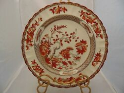Copeland Spode India Tree Red Dinner Plates