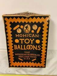 Vintage Mohican Rubber Toy Balloons Box Only Ashland Ohio