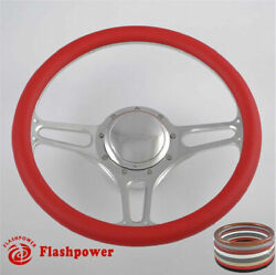 14and039and039 Billet Steering Wheels Red Half Wrap Hot Rod Gm Buick Riviera Lesabre Gmc