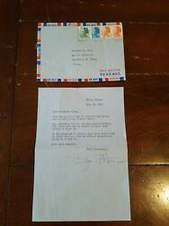 Olivia De Havilland Hand Signed 1985 Letter Autograph To M. Jooss Gone With Wind