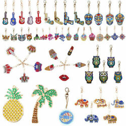 US DIY  Full Drill Special Shaped Diamond Painting Keychain Pendant Decor Gifts