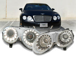 FACELIFT Dual Color LED DRL Projector Headlight For 2004-10 Bentley Flying Spur