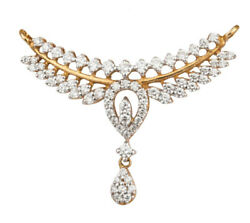 Christmas 1.76ct Natural Round Diamond 14k Yellow Gold Mangalsutra Necklace