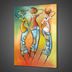 African Ladies Fetching Water Art Canvas Print Picture Wall Art Home Decor