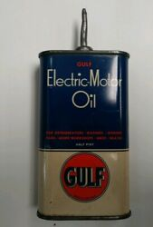 Vintage Gulf Electric Motor Oil Handy Oiler Lead Tip 1/2 Pt. Tin Free Shipping