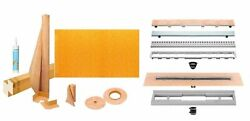 Kerdi-line Shower Kit 36 X 72 Kslt915/1830s Tray With Linear Drain And Grate