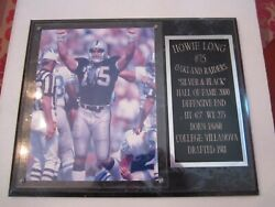 Framed Howie Long 75 Oakland Raiders Photo And Plaque - 15 X 12