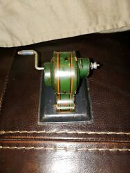 Vintage Tin Hjl Marke Hess D.r.g.m. Dynamobil Toy Made In Germany