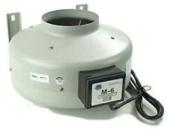 Tjernlund M-6 Inline Duct Booster Fan, Hydroponic Blower Heat Air Conditioning V