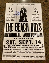 David Marks Signed 12x18 Concert Poster The Beach Boys 1963 Proof 4