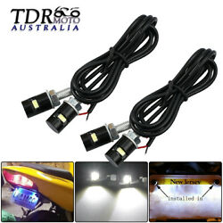 4 X Led License Number Plate Light Screw Bolt Bulbs Smd For Car Motorcycle White